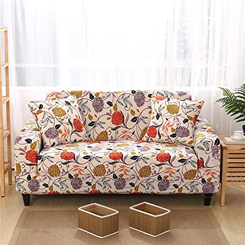 Fundas con Estampado Floral Fundas de sofá a Cuadros elásticos para Sala de Estar Sofá elástico Funda para Silla Sofá Toalla Decoración para el hogar A21 2 plazas