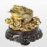 DGHJK Feng Shui Or Argent Grenouille pièce de Monnaie Crapaud Charme Chinois de la prospérité décoration de la Maison idée Cadeau pour Bureau Ordinateur Livre/étagère de télévision et Affichage de la