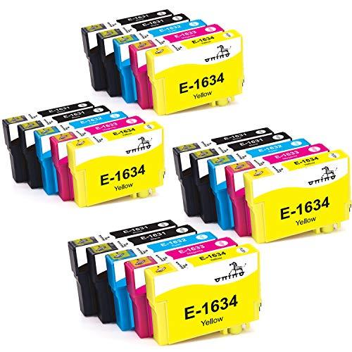 ONINO 16xl Compatibile per Epson 16XL Cartucce d'inchiostro per WF2630 WF2510 WF2760 WF2530 WF2520 WF2540 WF2750 WF2660 WF2650 WF2010 (20 Pack)