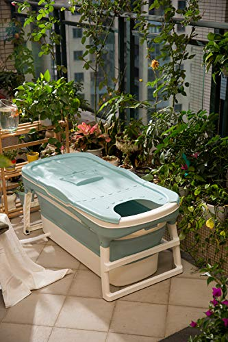 ThermaeStudio® - Bañera plegable para adultos y niños - Bañera de spa | Portátil | Verde menta