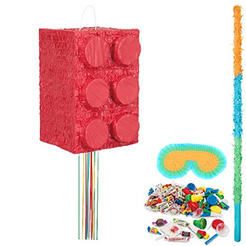 BirthdayExpress Block Party Supplies Party Pinata Kit