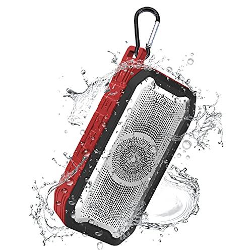 Altavoces Bluetooth 5.0, IPX7 Waterproof Altavoz Portatil, Estereo, al Aire Libre, hogar, Fiesta, Viajes con HD Audio y Manos Libres, Radio FM Antena Construido, USB, Llamadas Manos Libres y TF,Red