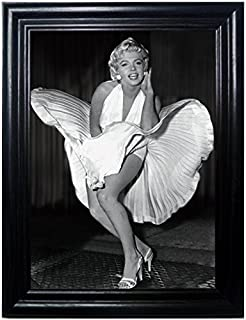 Those Flipping Pictures Marilyn Framed Wall Art-Lenticular Technology Causes The Artwork to Flip-Multiple Pictures in ONE-Hologram Type Images Change-Mesmerizing Holographic Optical Illusions