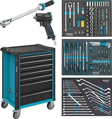 HAZET Werkstattwagen Assistent 179N-7/137 Schubladen flach: 5x 77x522x398 mm Schubladen hoch: 2x 162x522x398 mm