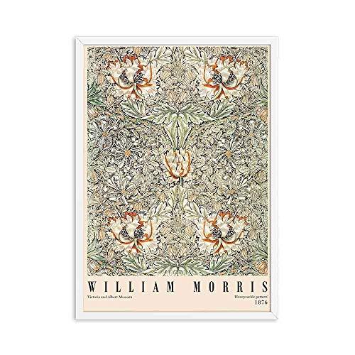 Póster de exposición de Victoria de grabado de William Morris, estilo de arte subterráneo de Londres, lienzo sin marco familiar, pintura A3 20x30cm