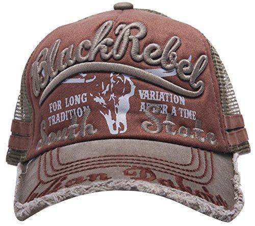 Homme 100% coton Distressed Vintage Cotton Baseball Mesh Cap Snapback Trucker (vert)