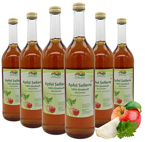 Bleichhof Apfelsaft mit Selleriesaft - 100% Direktsaft, vegan, OHNE Zuckerzusatz, 6er Pack (6x 0,72l)