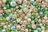 Verde Niebla Cristal Verde lámpara de techo Bead Set para bisutería y artes y manualidades - 360 piezas