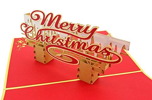 PopLife Frohe Weihnachten Nachricht Pop Up Ferienkarte & Ornament - Weihnachtskarten, Weihnachten