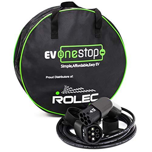 EV OneStop Simple, Affordable, Easy EV Ladekabel für Elektrofahrzeuge | Typ 2 bis Typ 2 | 32 Amp (22 kW) | 3 Phase | 5 Meter | Kostenlose Tragetasche | BMW i3, Tesla, Renault Zoe |