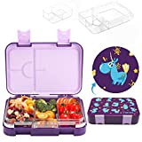 Yansu Kids Bento Box Leakproof 6-Compartment Cute Bento Lunch Box for Kids Toddler Meal Snack Packing Food Storage Travel School Lunch Container Freezer Microwave Safe Lunchbox