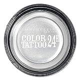 Maybelline Color Tattoo 24h Gel Ombre à Paupières en Crème 50 Eternal Silver 4 g
