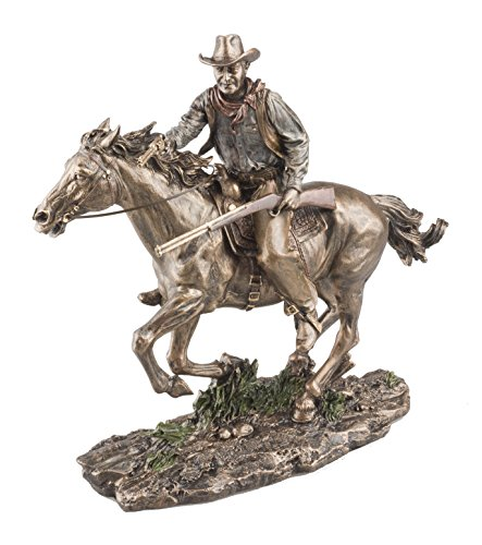 Bronze Screen Legend Riding Cowboy - John Wayne