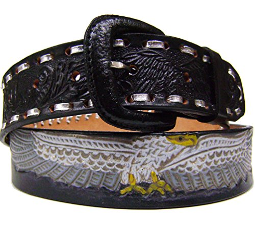 """Modestone Western Ceinture Cuir Painted Eagle Concho 1.5'' Width 1/8"""" Thick"""