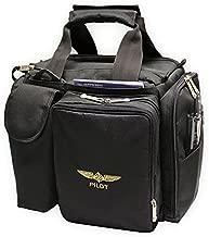 Design 4 Pilots Brand Pilot Bag Cross Country Flight Bag, Aviation Bag, Black, Pilot Gift