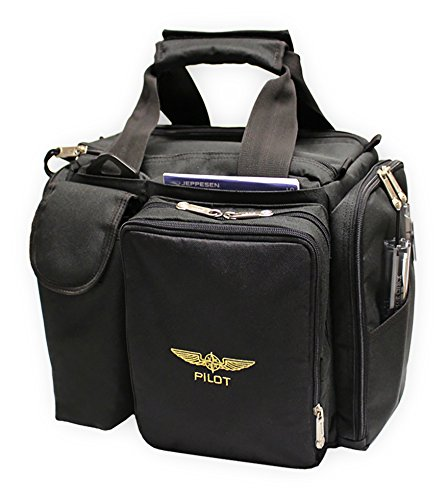 Design 4 Pilots Brand Pilot Bag Cross Country Flight Bag, Aviation Bag, Black, Pilot Gift