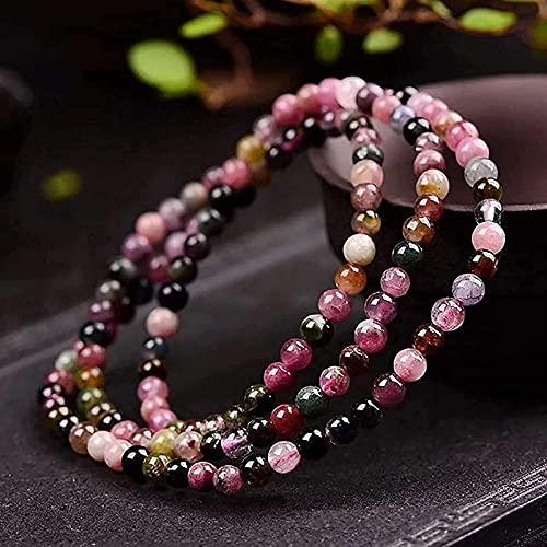 Perlas de oración islam feng shui brazalete 3 unids feng shui brazillian turmalina amuleto pulsera arco iris chakra gemstone reiki yoga meditaion buddha oración brazalete elástico tranquilo paz físico