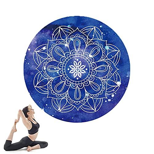 Alfombra de yoga, alfombra de fitness para Pilates para el hogar, no resbalón, agarre extra, estera de entrenamiento ecológico para Pilates, meditación, mujeres, hombres, 140 cm * 140 cm * 3.5mm Inici
