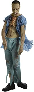 The Walking Dead TV Show Zombie Patient Costume with Molded Wound
