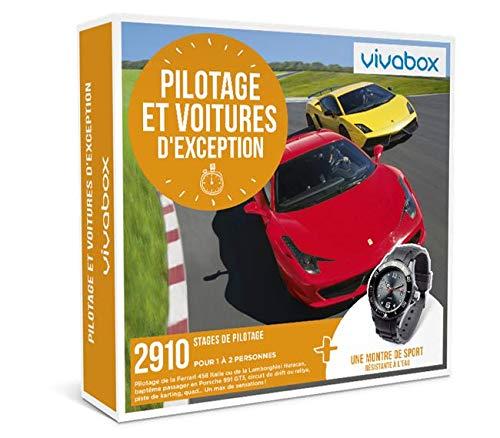 Vivabox - Coffret cadeau sensation- PILOTAGE ET VOITURES D'EXCEPTION- 2910 stages + 1 montre de sport