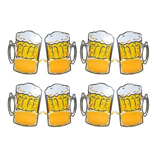 Amosfun 4pcs gafas de sol divertidas de la fiesta de la cerveza jarra de cerveza anteojos gafas de fiesta tropical fiesta de celebración favor de cumpleaños boda carnaval fiesta suministros