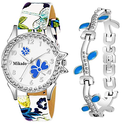 SPINOZA Pink diamond studded attractive butterfly stylish women Analog Watch - For Girls