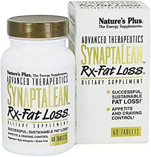 NaturesPlus SynaptaLean Rx-Fat Loss - 60 Vegetarian Tablets - All Natural Appetite Suppressant, Supports Healthy Weight Ma...