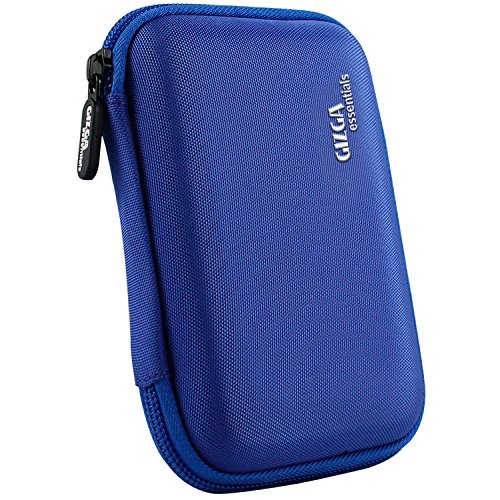 Gizga Essentials External Hard Drive Case for 2.5-Inch Hard Disk - Double Padded (Azure Blue)