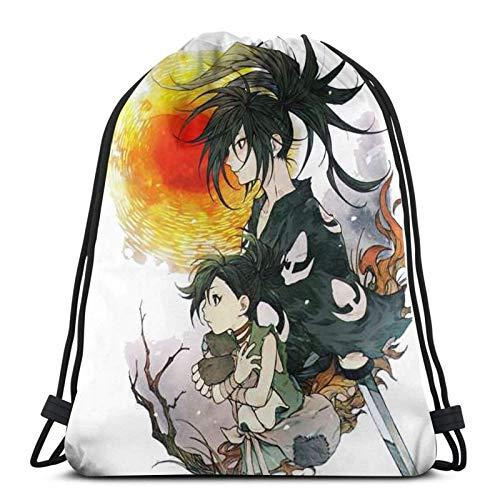 Yuanmeiju Dororo Fashion Bolsa con cordón Shoulder Bags Sport Storage Bag For Man Women