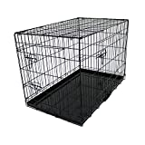 "Oypla 36"" Folding Metal Dog Cage Puppy Transport Crate Pet Carrier"
