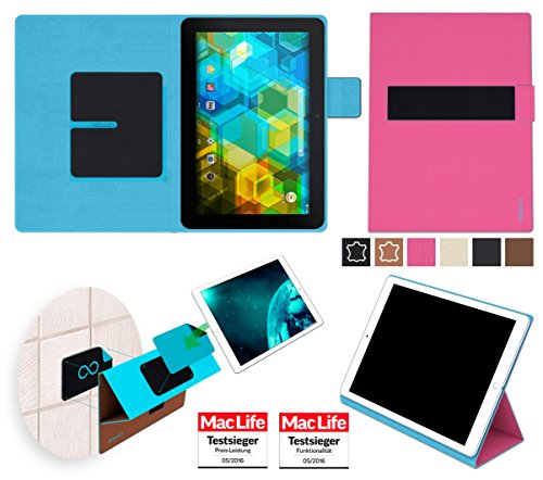 reboon Hülle für BQ Edison 3 Tasche Cover Case Bumper | in Pink | Testsieger