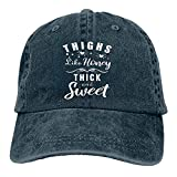 Thighs Like Honey, gorra de béisbol gruesa y dulce, unisex, gorra ajustable de casqueta vintage para hombres y mujeres, azul marino, Talla única