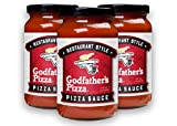 Godfather's Pizza Sauce, 14oz (3-Pack) No Added Sugar, Restaurant Style Italian Pizza Sauce