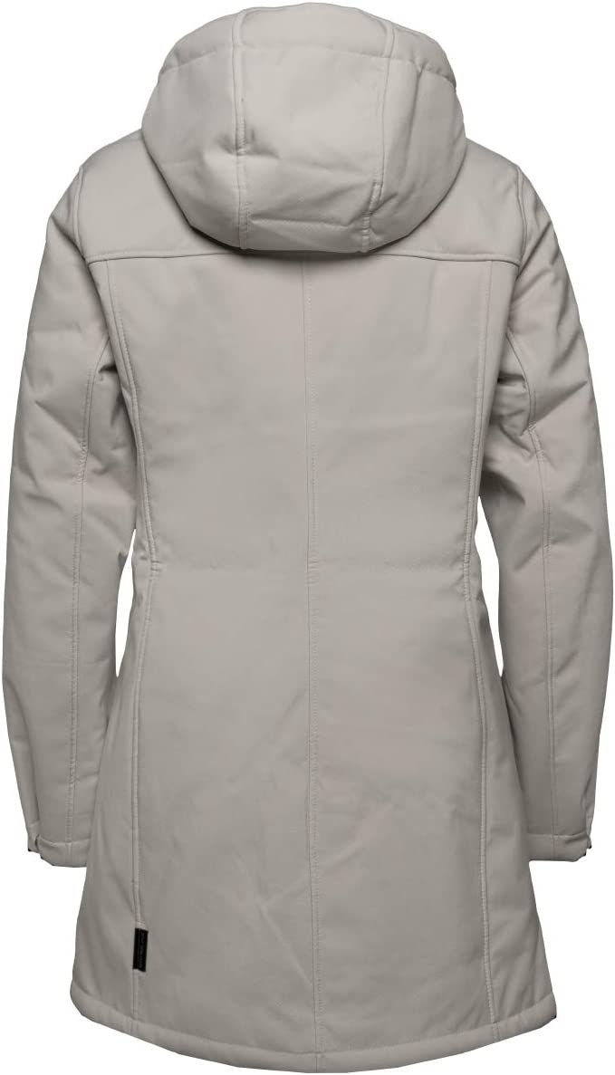 Jack Wolfskin Damen Windy Valley Coat W Softshellmantel Dusty Grey
