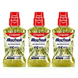 Colgate Maxfresh Plax Antibacterial Mouthwash (Saunf), Removes 99% Germs with CPC, 24/7 Fresh Breath - 250ml (Pack of 3)