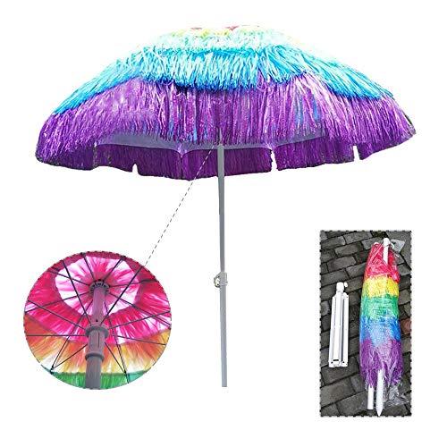 Aly Ombrellone Hawaiano (170 cm) ombrellone da Giardino in Finta Paglia Spiaggia, Parasole Esterno, Colore Multiplo