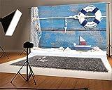 YongFoto Fotografía 5x3ft Telón de fondo Vela extracto de la nave cáscaras de madera resistido pared Photond Telones Fotografía Photohoots Pa