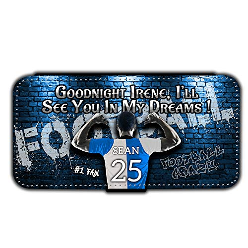 i-Tronixs® Personalised Name and Jersey Number Mens Football All Teams Phone Wallet Case Compatible with Samsung Galaxy Note 10 Lite/A81 13 Bristol Rovers