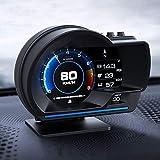 目盛りが見やすい ヘッドアップディスプレイ OBD2+GPSモード タコメーター エラーコード消去 ECUのデータを読み取る 表示改良 警告機能付き