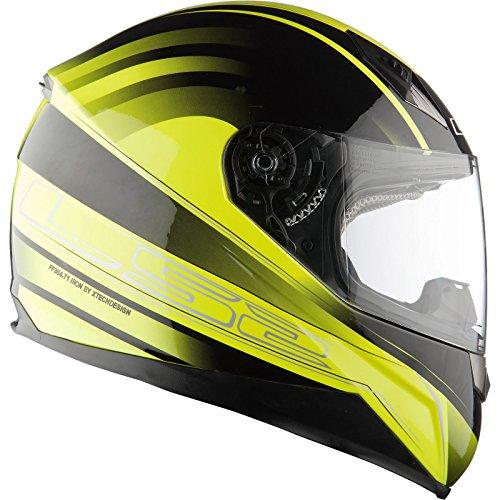 LS2FF384II Iron casco Moto/Scooter completo, Hi Vis Jaune