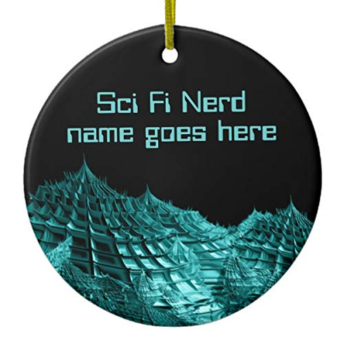 Lplpol Sci Fi Nerd Fantasy Landschaftsbild Keramik Ornament für Urlaub Jahrestag Heimdekoration