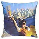 Yuanmeiju Funda de Almohada Supertramp Breakfast in America Square Pillowcase Men Women Fashion Pillow Covers Sofa Bed One Size