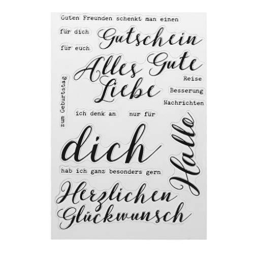 Xurgm Text DIY Silikon Klar Stempel Blatt Scrapbooking Album Foto DIY Weihnachten Valentinstag Thanksgiving Geschenke