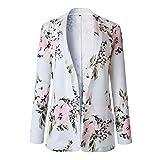 Chaqueta Blazer para Mujer OL Work Ladies Retro Floral New Up Chaqueta de Bombardero Abrigo Informal Estilo de Prendas de Vestir Exteriores Elegante Delgado Otoño