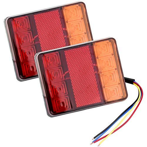 2 Stk Rückleuchten Anhänger Beleuchtung Led 12V Universal Rücklichter für Trailer Truck Anhänger Wohnwagen RV LKW PKW