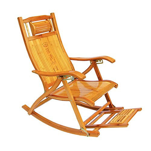 Xiaolin Chaise de Bambou Chaise berçante Pliante allongée Chaise canapé extérieur Chaise Siesta Chaise d'été Cool