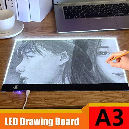 A3 Portátil LED Dibujo digital Tableta gráfica Control táctil Tableta de dibujo de gráficos regulables USB LED Caja de luz Tablero de copia Pad