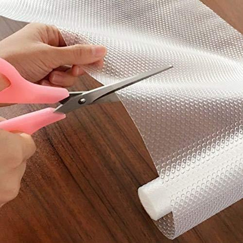 Behavetw - Alfombrilla antideslizante para cajón de cocina, 1 rollo de mantel protector de mesa antimoho y antibacteriano, As Picture Show, 30*150