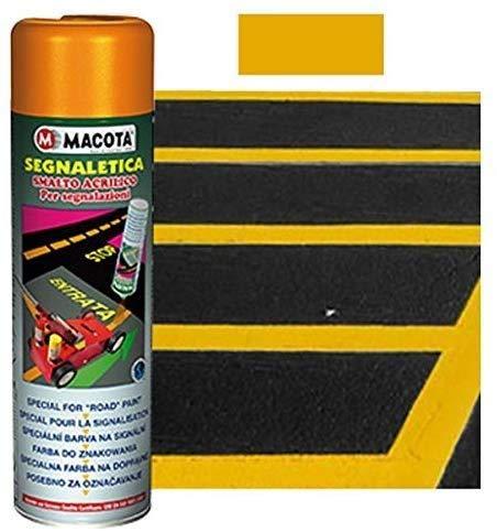 StickersLab - MACOTA SEGNALETICA vernice spray per segnaletica stradale - 500 ML - 6 TINTE (Giallo)