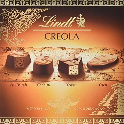 Lindt Creola Pralinen, Auswahl feiner Pralinés, 4 unterschiedliche Sorten, glutenfrei, 165g